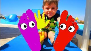 Learn Colors for kids with feet painting | Nursery Rhymes Anabella Show