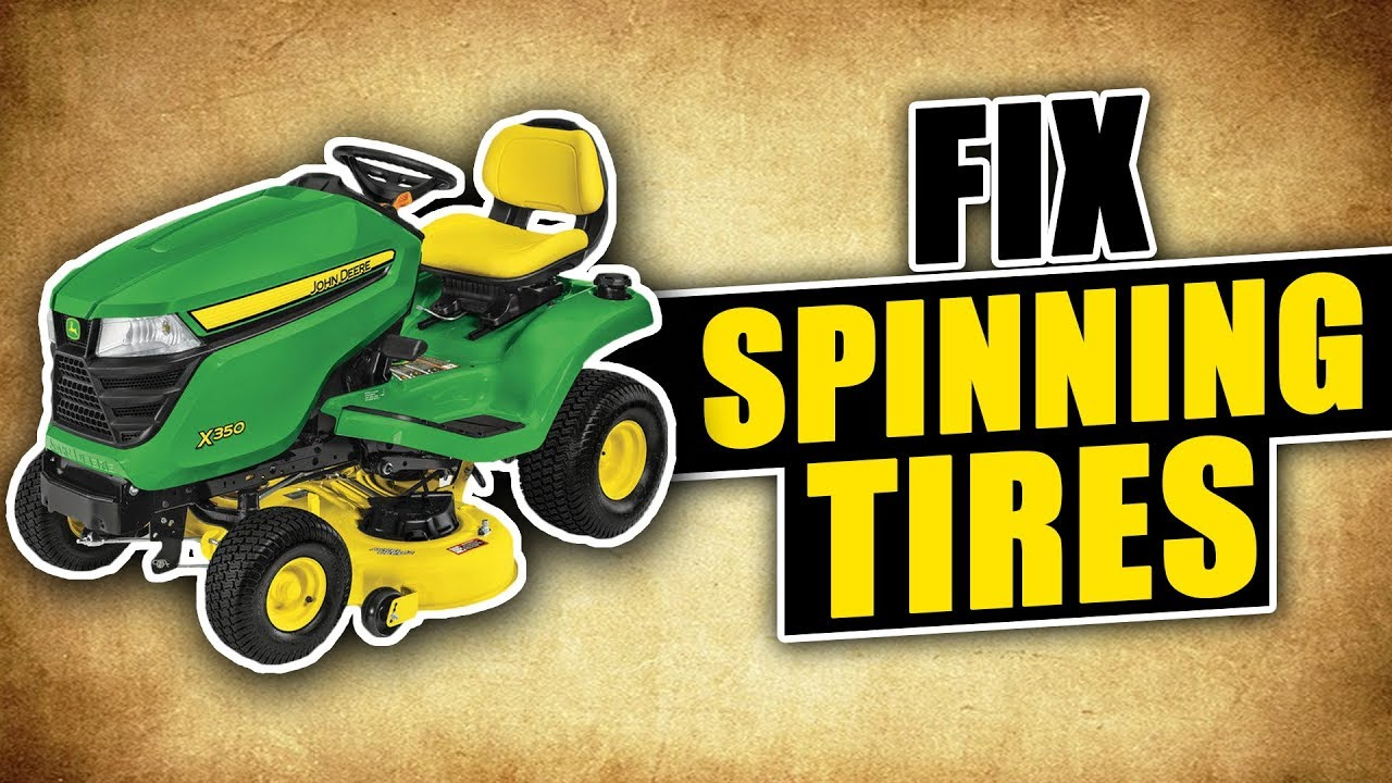 how to fix your lawn mower tires from spinning and getting no traction