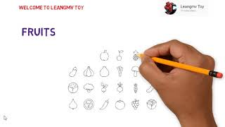 Drawing fruits, how to draw fruits, drawing for kids