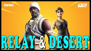 "After Dark: FORTNITE: NEW ""RELAY & DESERT DOMINATOR"" SKINS in the ITEM SHOP! // Playing With SUBS"