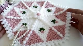 En Kolay Kutup Yıldızı Lif Modeli Yapımılifci_peri crochet knitting