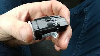 снятие, разборка и чистка кнопки start stop vw tiguan 1 2012г