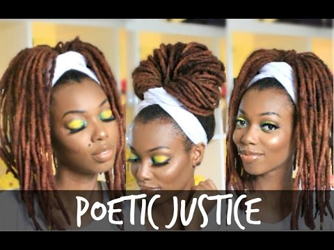 how to wrap your hair style poetic justice wrap tutorial for braids twists 7199