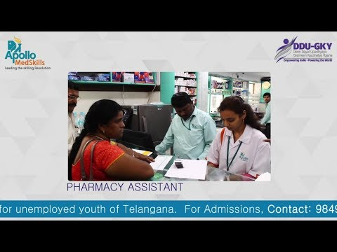 #DDUGKY - Training & Placement Program | #PharmacyAssistant Course | Apollo  MedSkills