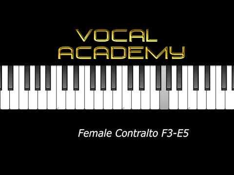 🎹 🎤 🎶 PIANO VOCAL WARM UP EXERCISE FEMALE CONTRALTO F3-E5