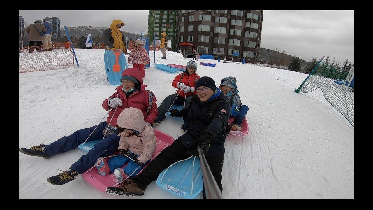 2019北海道星野渡假村滑雪-幼兒童滑雪學校-霧冰平臺snow car-登別-札幌 - YouTube