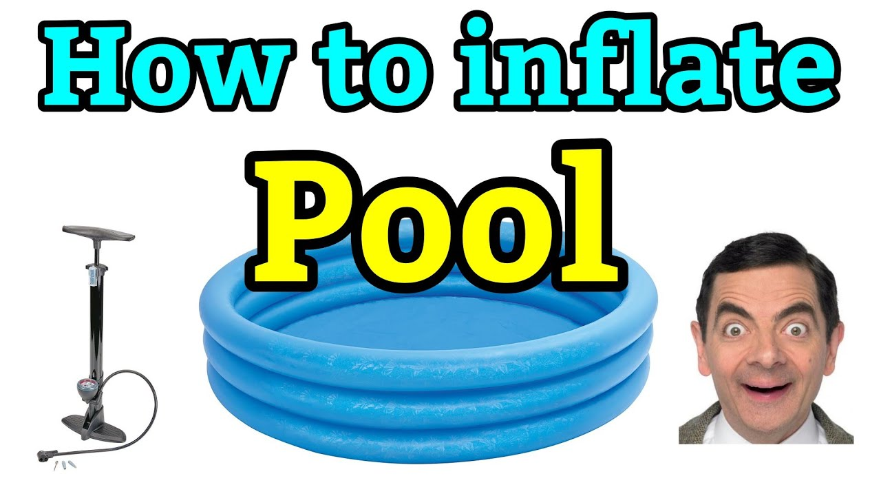 How To Inflate Intex Inflatable Pool With Just Bike Pump No