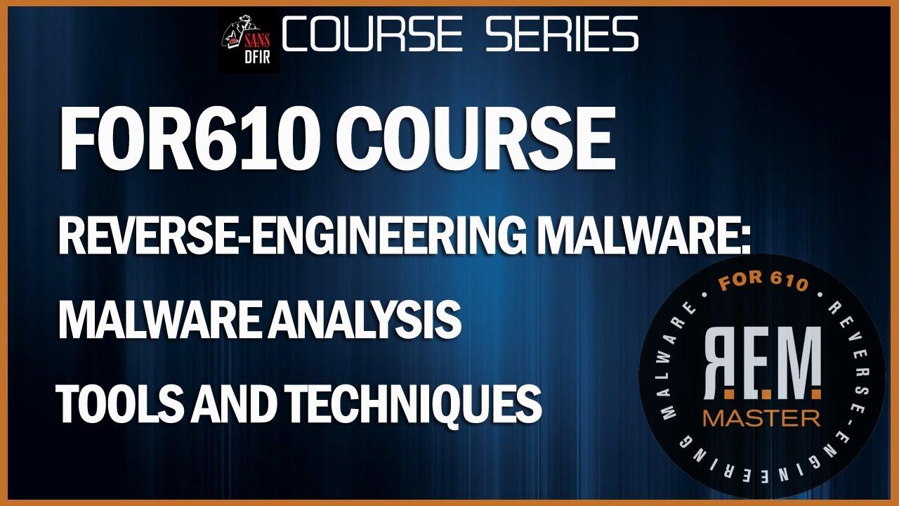 Reverse Engineering Malware Training | Malware Tools
