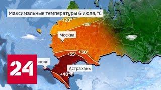 """""""Погода 24"""": российским регионам нужно приготовиться к аномальному зною - Россия 24"""