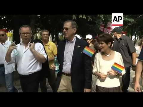 Gay and lesbian community hold gay pride parade
