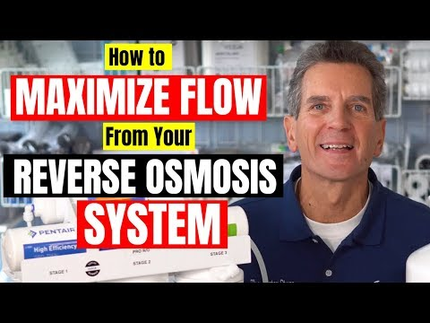 Best 3 Ways To MAXIMIZE FLOW From REVERSE OSMOSIS Drinking Water System
