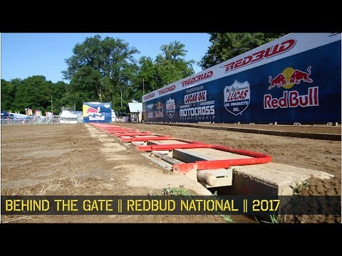 RedBud MX 2017 || Behind the Gate ,  Behind the scenes