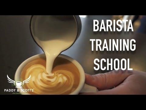 Paddy and Scott's barista training school