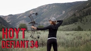 Sighting in my Hoyt Defiant 34   Compound Bow