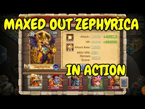 Zephyrica L Maxed Out In Action L Castle Clash