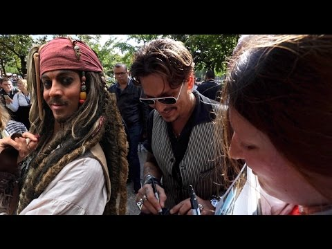 Meeting Johnny Depp and other pirates at Disneyland