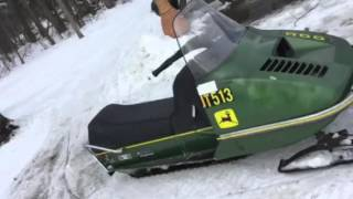 John Deere 300 snowmobile review *not for sale*