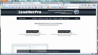 Lead Net Pro Training Review Extractors Demo Google Yahoo Search leadnetpro.mp4