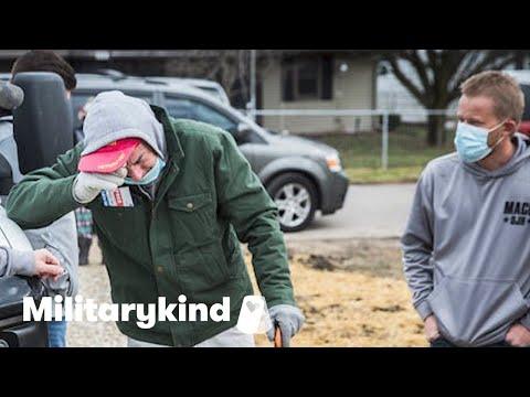 Veteran weeps over new home built by teens | Militarykind