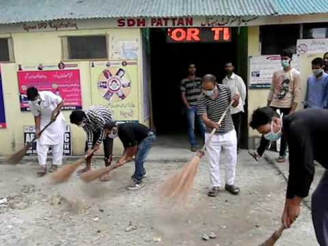 Cleanness Drive Held at Pattan Baramulla on the Call of Syed Ali Shah Geelani