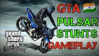 GTA India 🇮🇳 Pulsar Stunts HD Gameplay Funny moments ||Hindi/Urdu||