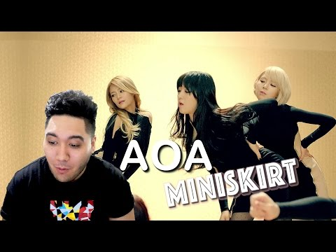 AOA - 짧은 치마 (Miniskirt) REACTION!!!