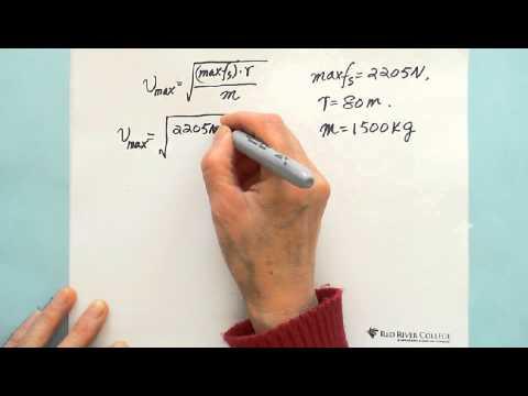 Uniform Circular Motion: Practice Question 1 - YouTube