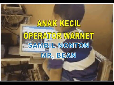 [Mr. Bean] Anak Kecil Operator Warnet smbil nonton