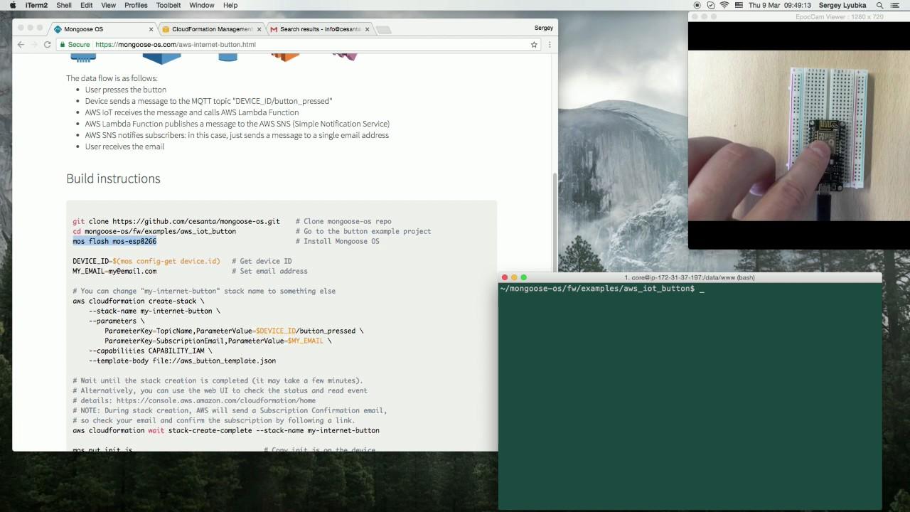 Internet Button on ESP8266 & AWS IoT - Full Stack Tutorial Using