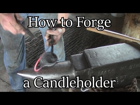 Forge a Candleholder - Beautiful, yet simple project. | Iron Wolf Industrial