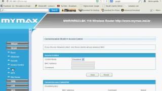 Bem simples - Como configurar roteador Mymax 150 mbps (Wi-fi e Cabo) thumbnail