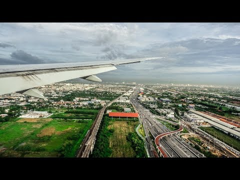 Qatar Airways Boeing 777-200LR MORNING LANDING at Bangkok Airport (BKK)