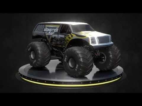 Monster Jam 25th anniversary truck