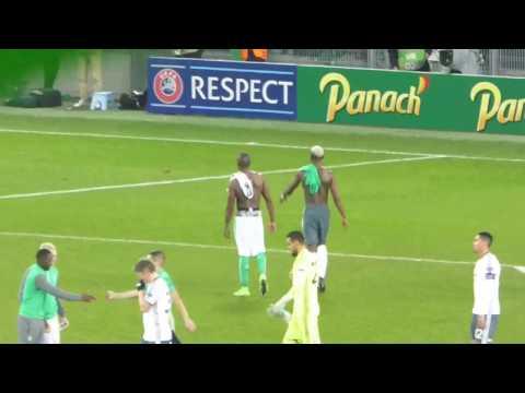 Paul Pogba ● Florentin Pogba ● Saint-Etienne vs Manchester United ● Europa League