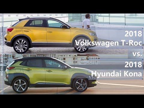 2018 Volkswagen T Roc vs 2018 Hyundai Kona technical comparison