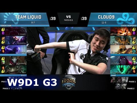 Team Liquid vs Cloud 9 | Week 9 Day 1 of S8 NA LCS Spring 2018 | TL vs C9 W9D1 G3