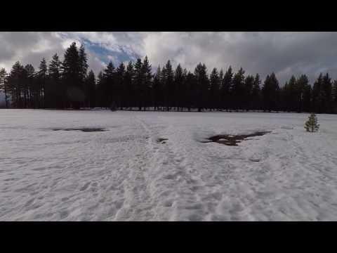 Mid-winter snow hike to Nevada State Beach, Lake Tahoe