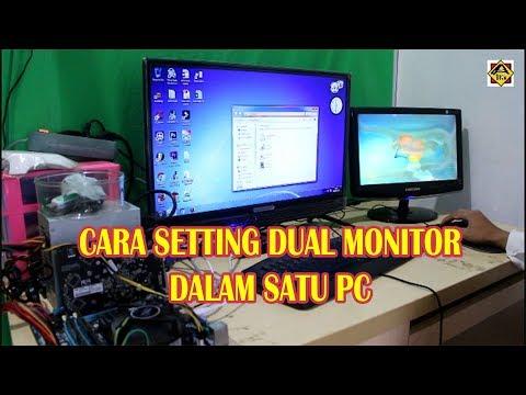 Video Tutorial Cara Setting Dual Monitor di Komputer dengan Software Pendukung Display Fusion, walau.