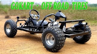 Upgrade F1 Gokart v3 with OffRoad Tires - Video 4K