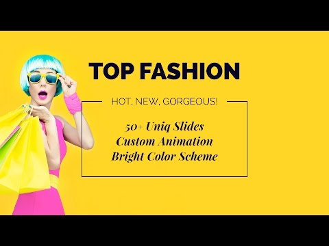 Top fashion powerpoint template presentation templates top fashion powerpoint template toneelgroepblik Image collections