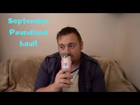 September Poundland Haul