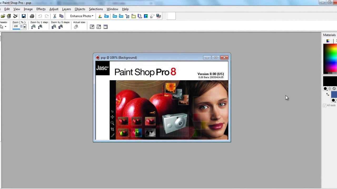 jasc paint shop pro 8
