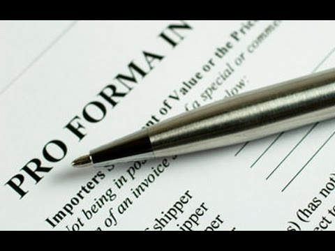 What Is Pro Forma Invoice  Youtube
