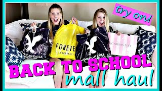 HUGE BACK TO SCHOOL MALL SHOPPING HAUL 2018 || Taylor and Vanessa