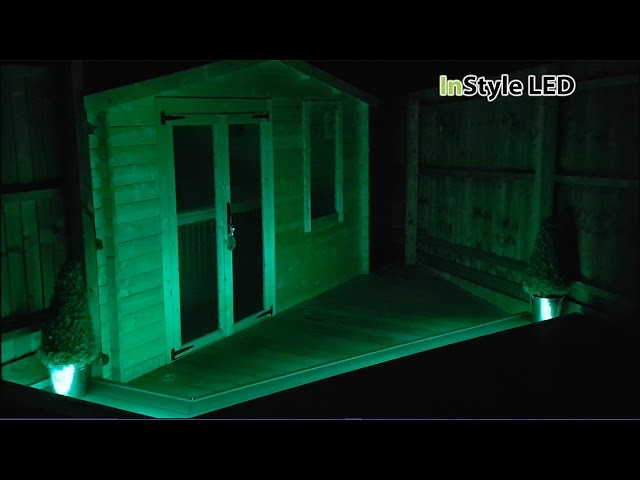 RGBW LED Tape used in a garden cabin
