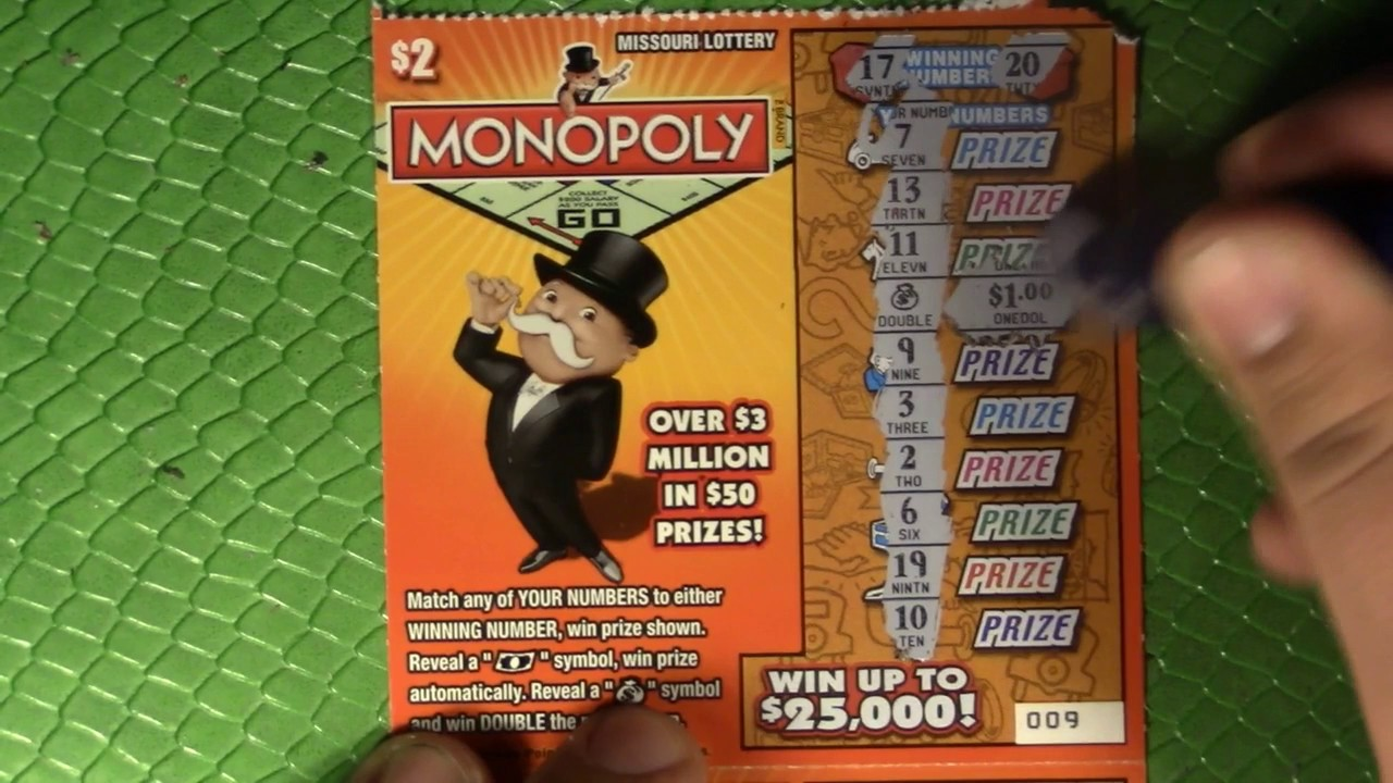 FULL PACK OF $2 MONOPOLY MISSOURI LOTTERY SCRATCHERS - FULL PACK!!!