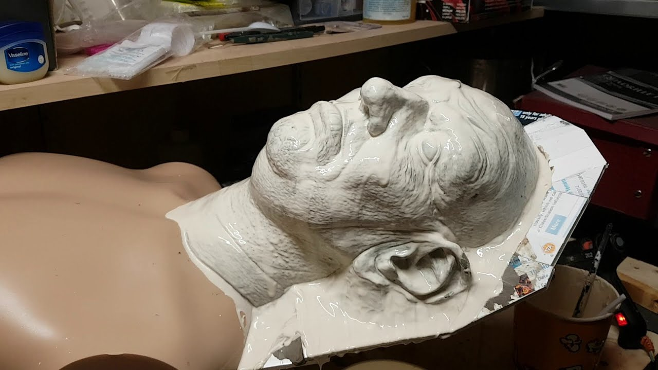 Making a Silicon Statue Part 2 - Moulding and Casting in Dragon Skin Silicon