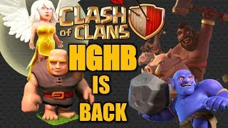 TH9 HGHB is back!!!?Clash of clans TH9 HGHB attack strategy!!