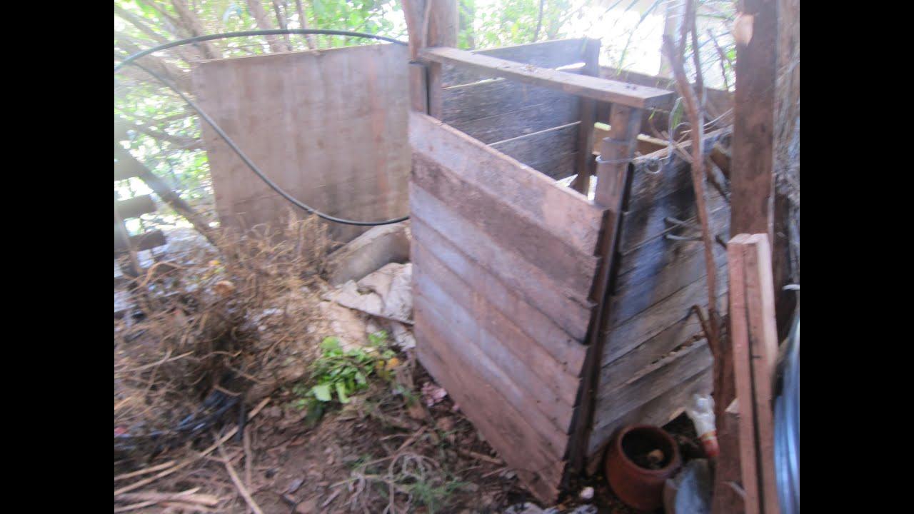 Compost en mi jardin como hacer un compostador para for Como hacer una puerta de madera