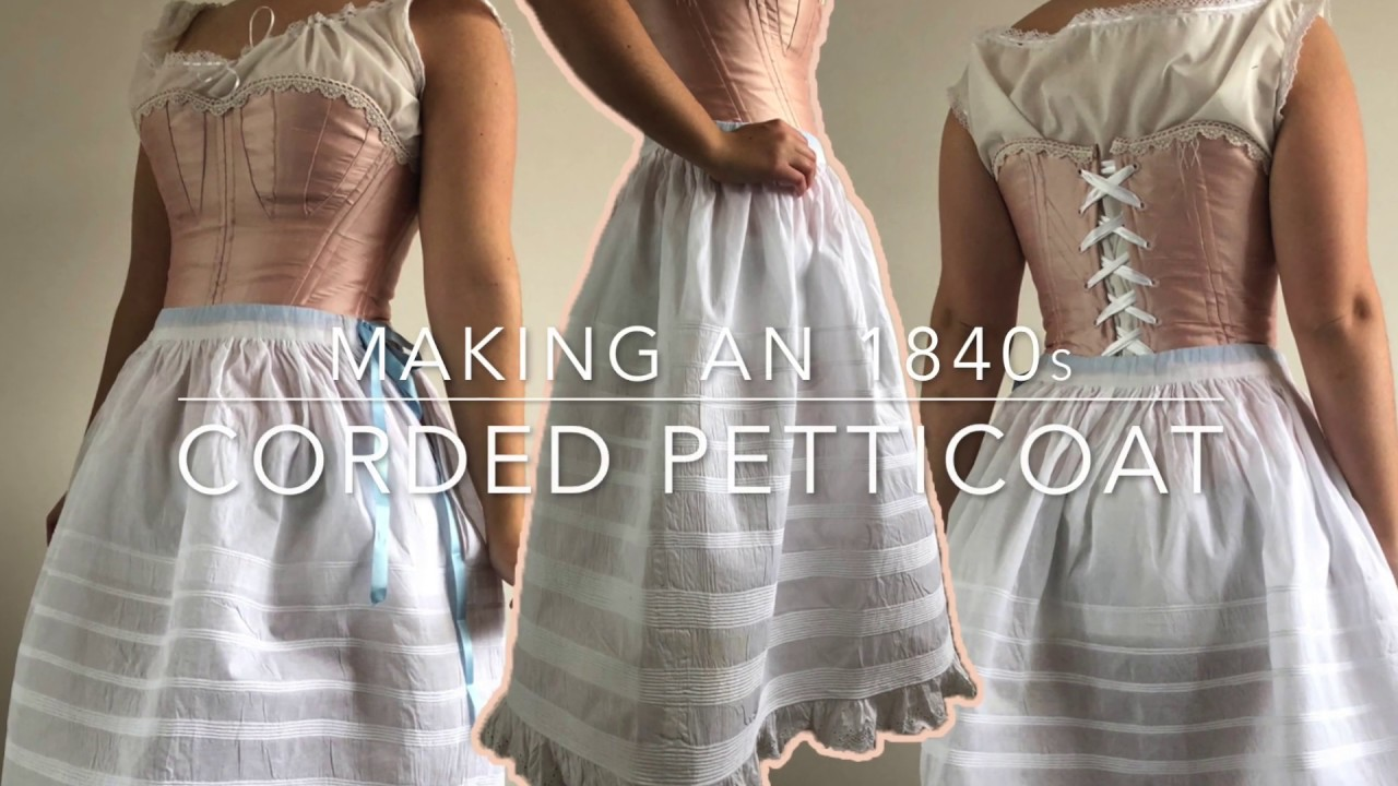 Making an 1840s evening dress: the corded petticoat